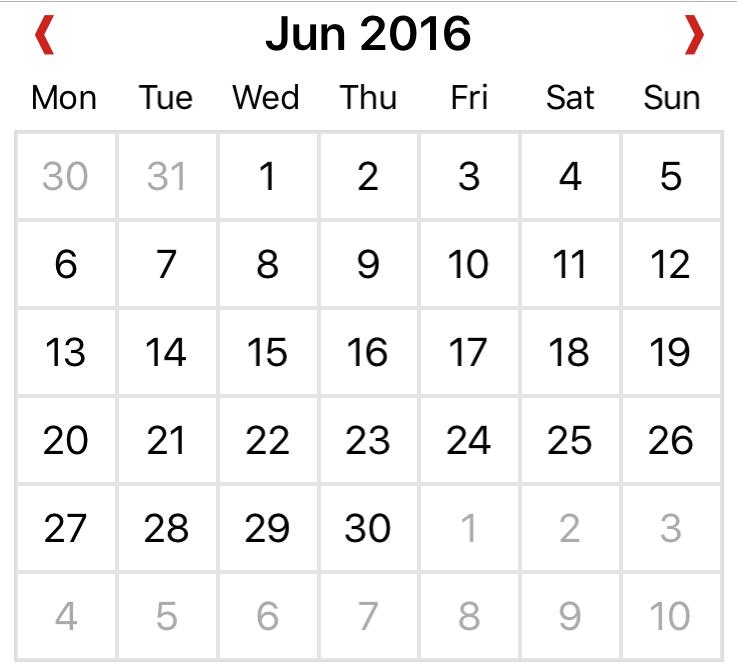 XamForms.Controls.Calendar 1.0.8